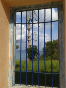 Figure 2: Looking out of the intended prison block courtyard