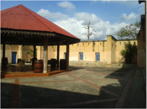 Figure 6: Courtyard of the intended prison block