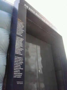 Entrance of the temporary exhibition on the Malvinas, Buenos Aires