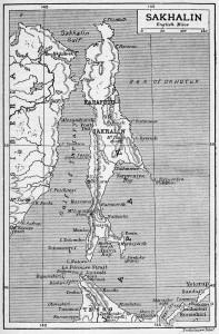 1906 Map fo Sakhalin