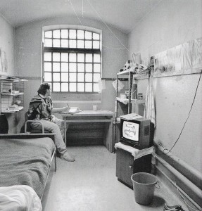 Inside a cell, ca. 1980s