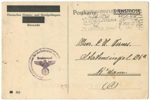 """The prison of the wolvenplein as """"Deutsche Unters- und Strafgefaengnis"""""""