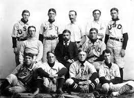 Pell with the University baseball team