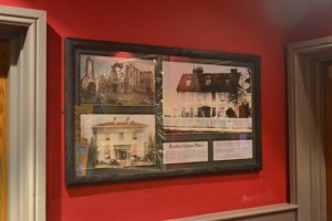 Photograph of local historical info on display in a Wetherspoon pub