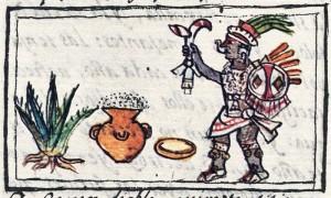Aztec manuscript showing pulque's connection to the divine world