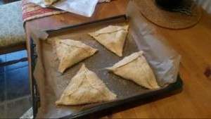 Image of the author's attempt to make flaounes for Easter