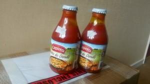 Image of 2 bottles ofdendê oil (Brazilian palm oil)