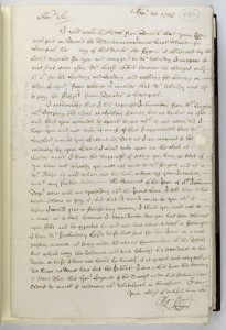A letter from the Bodewryd Archive. From Thomas Croft, cider merchant, to Doctor Wynn Chancellor, of the Bodewryd Estate Anglesey, 1745. Reproduced with kind permission from the National Library of Wales (www.llgc.org.uk)