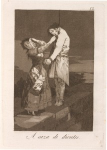 Title A caza de dientes (Out Hunting for Teeth), 1799, Francisco Goya (1746–1828). Francisco Goya [Public domain], via Wikimedia Commons.