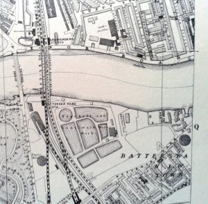 Battersea, London. Source: The A to Z of Victorian London. Harry Margary, Lympne Castle, Kent, 1987.