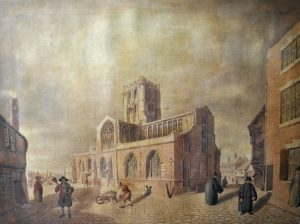 St John's Church, Coventry, 1823 by Edward Rudge. This church stands at the end Spon Street, where Mary Ann and her uncle William lived. Mary Ann claims that she and Edward Clarke were due to marry there two weeks after the murder took place.