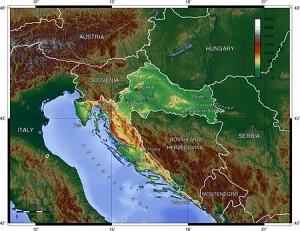 Croatia - topographical
