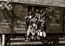 German WWI Troop Train