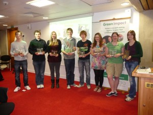 Geology students led a gold winning Green Impact team in 2012/13