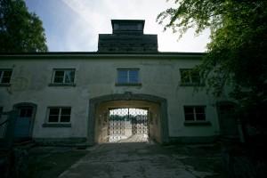 Gatehouse at Dachau concentration camp