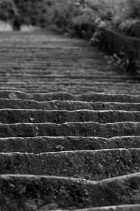 The infamous stairs of death at Mauthausen quarry