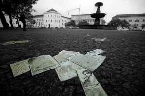 The White Rose Pavement Memorial in Munich