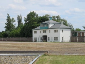 The gatehouse to Sachsenhausen concentration camp
