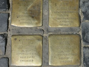 Brass 'Stumbling Block' memorials in Berlin