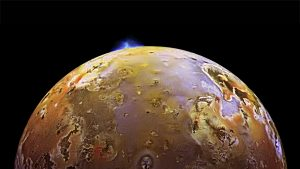 The volcanic moon: Io. Credit: NASA.