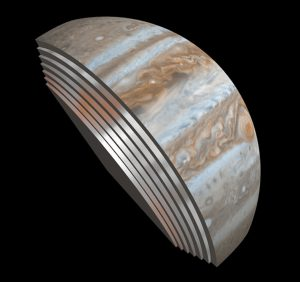 Slicing through Jupiter's sub-cloud atmosphere with the microwave radiometer.