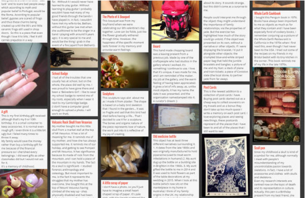 Examples of sharing images on a Padlet noticeboard