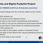 Learning lunch topic: social equity and digital footprints
