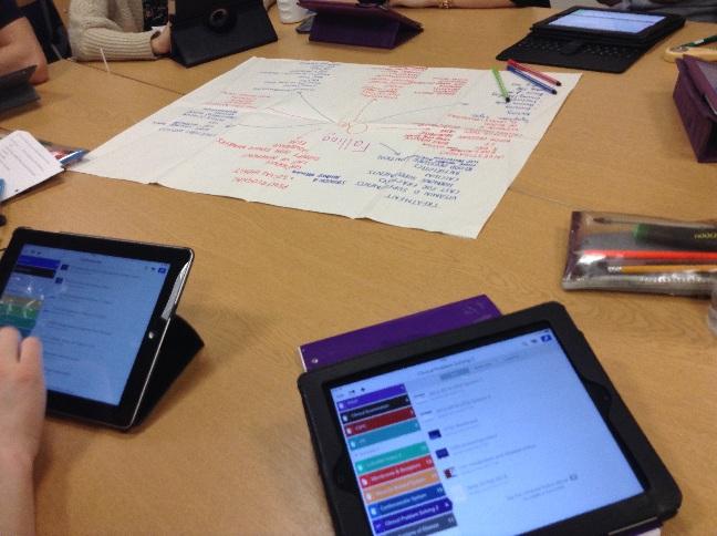 Group using iPads