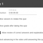 Figure 1: Quiz Settings