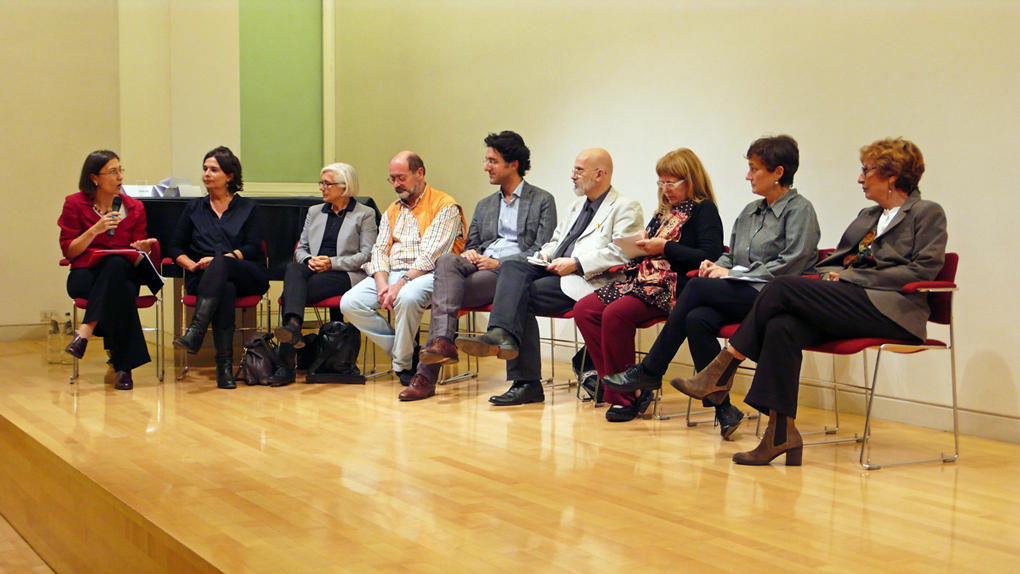 Speakers at the Conference (apart from Prof. Quintavalle). Photograph by Silvia Stucky.