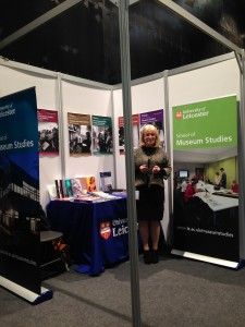Barbara at the Museums Association Conference in Cardiff.