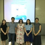 From left: Art Museum and Gallery Studies alum Winky (qi Wen), Professor Hu Bin, Janet Marstine, Tanya (Tan Yue); and Xue Yan, Guangzhou Academy of Fine Arts Museum events coordinator