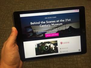 MOOC on an iPad