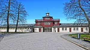The camp gate at Buchenwald
