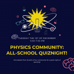 Why Not…. Join Our All-School Quiz on December 1st?