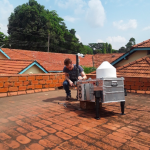 Remote sensing of greenhouse gases in the air over Jinja, Uganda
