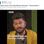 Leicester Planetary Scientist in BBC Earth Feature on Jupiter