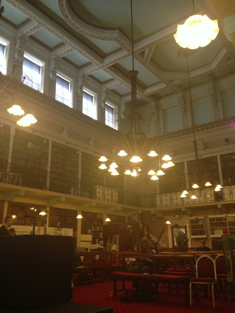 Picture of elegant old library at the Royal Irish Academy