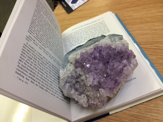 Geode on a book