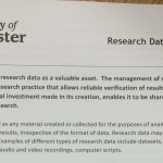 Research Data Management Principles document - top part