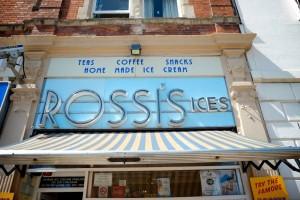 Rossi's ice cream close up