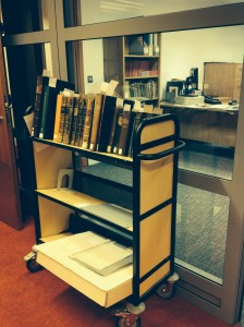 The famous Special Collections trolley