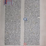 First page of Henreich Eggestein's 1466 Latin Bible (SCD 0193).