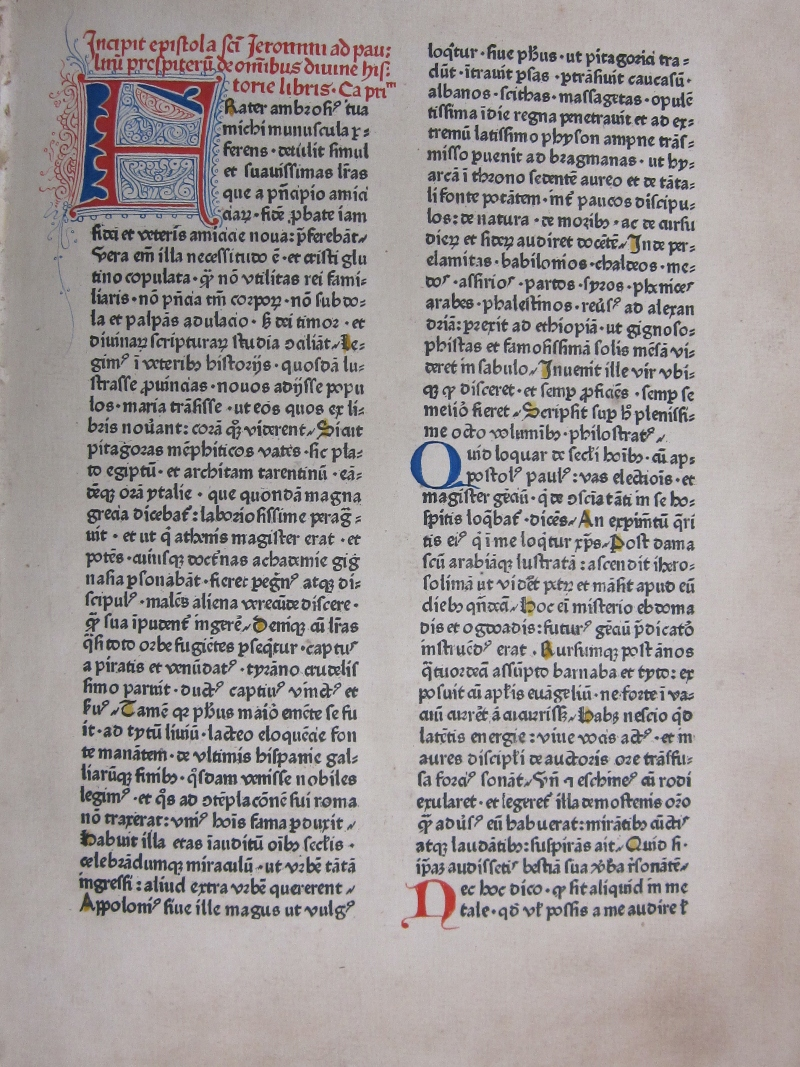 incunabula in special collections