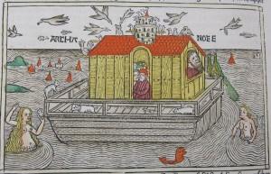 Woodcut of Noah's Ark from Anton Koberger's 1483 High German Bible (SCD 243-244).