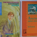 Chinese and Basque Adrian Mole editions showing very different interpretations of the character