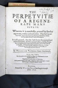 William Prynne, The Perpetuitie of Man's Estate (London, 1626), title page. SCS 02064
