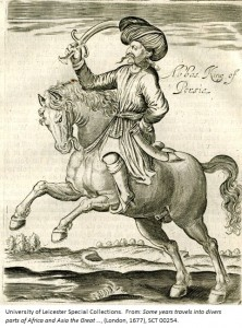 'Abbas King of Persia' from: Sir Thomas Herbert, Some years travels into divers parts of Africa and Asia the Great …, (London, 1677), p. 216, SCT 00254