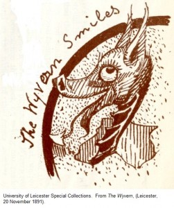 'The Wyvern Smiles' from 'The Wyvern', (Leicester, 20 November 1891).