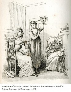 Would you entrust your baby to this nurse? The Mother from: Richard Dagley, 'Death's Doings', (London, 1827), pl. opp. p. 137